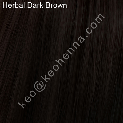 Herbal Dark Brown, Chemical Free Hair Color