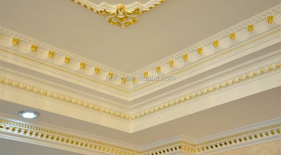 KA-1036 wholesale polyurethane material PU foam crown carved molding