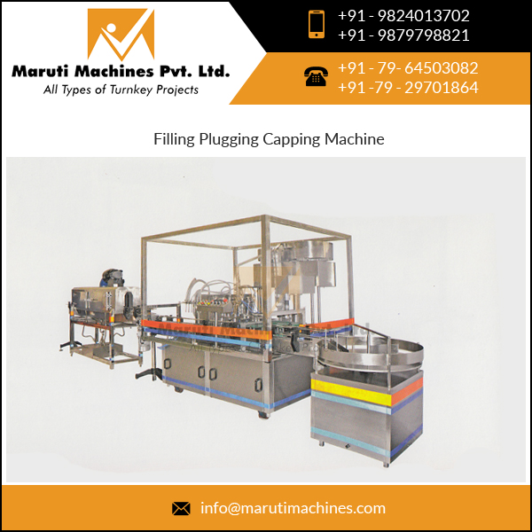 Filling Plugging Capping Machine with 3 Stages Indexing Mechanism