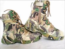 Camouflage Military Tactical high ankle Boots