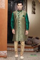 Amazing Beige Jacquard Art Silk Indo Western/ Indian Kurtas/ Wholesale Designer Kurtas