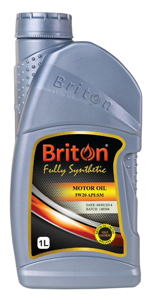 Briton, Motor oil,Engine Oil,Petrol Engine Oil, Fully Synthetic SAE 5W20