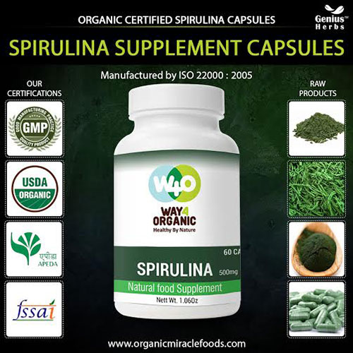 The 100% Healthy Protein Rich Pure Spirulina Capsules For Bulk Export