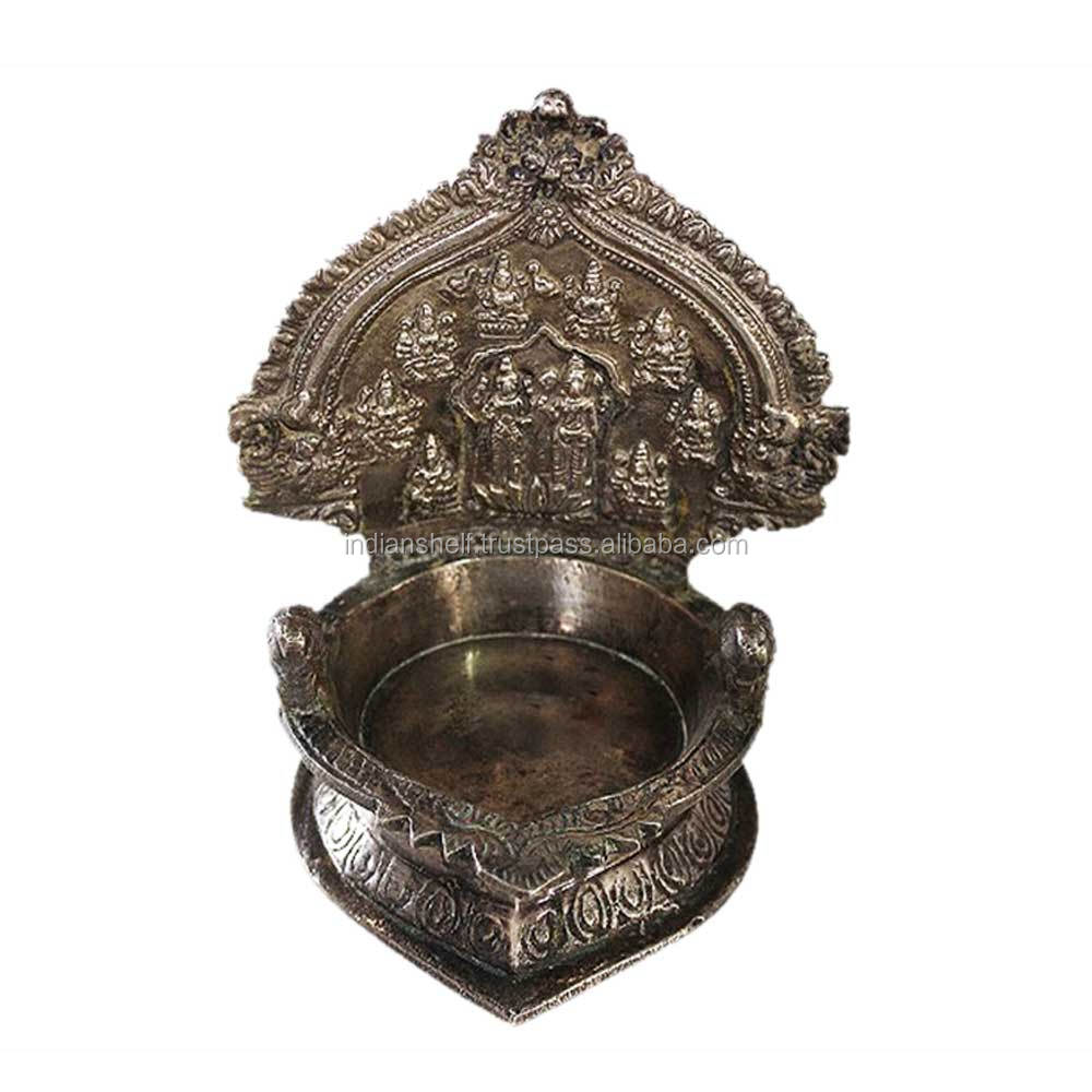 Indian Brass Decorative Oil Lamp 6.25 x 5.25 Inches BOL-36