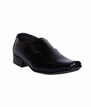 Indian Nation Black Formal Shoes