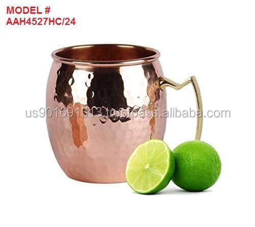 """24 ounce Solid Hammered Copper Moscow Mule Mugs Manufacturer"""