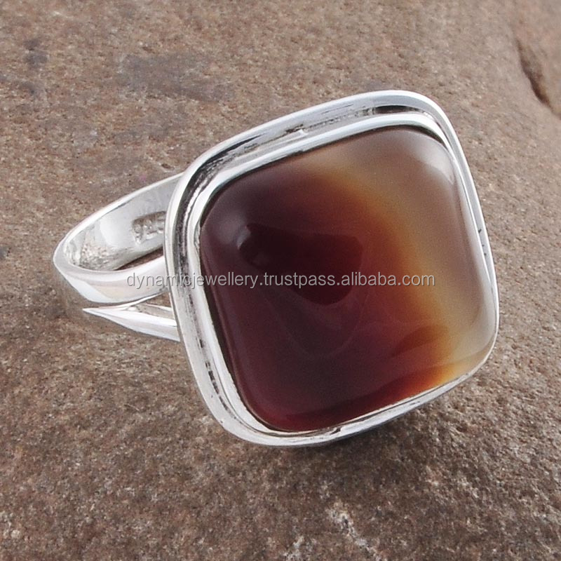 Botswana Lace Agate Wholesale Sterling Silver Ring