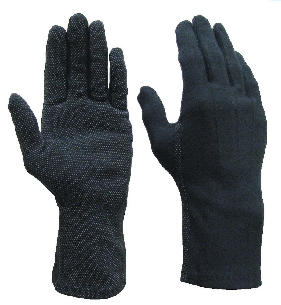 Beaded Cotton Gloves Extra Long in Black | cotton gloves