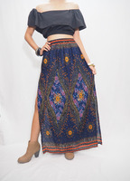 Thai skirt bohemian clothing women floral long maxi skirt one size fits skirts.