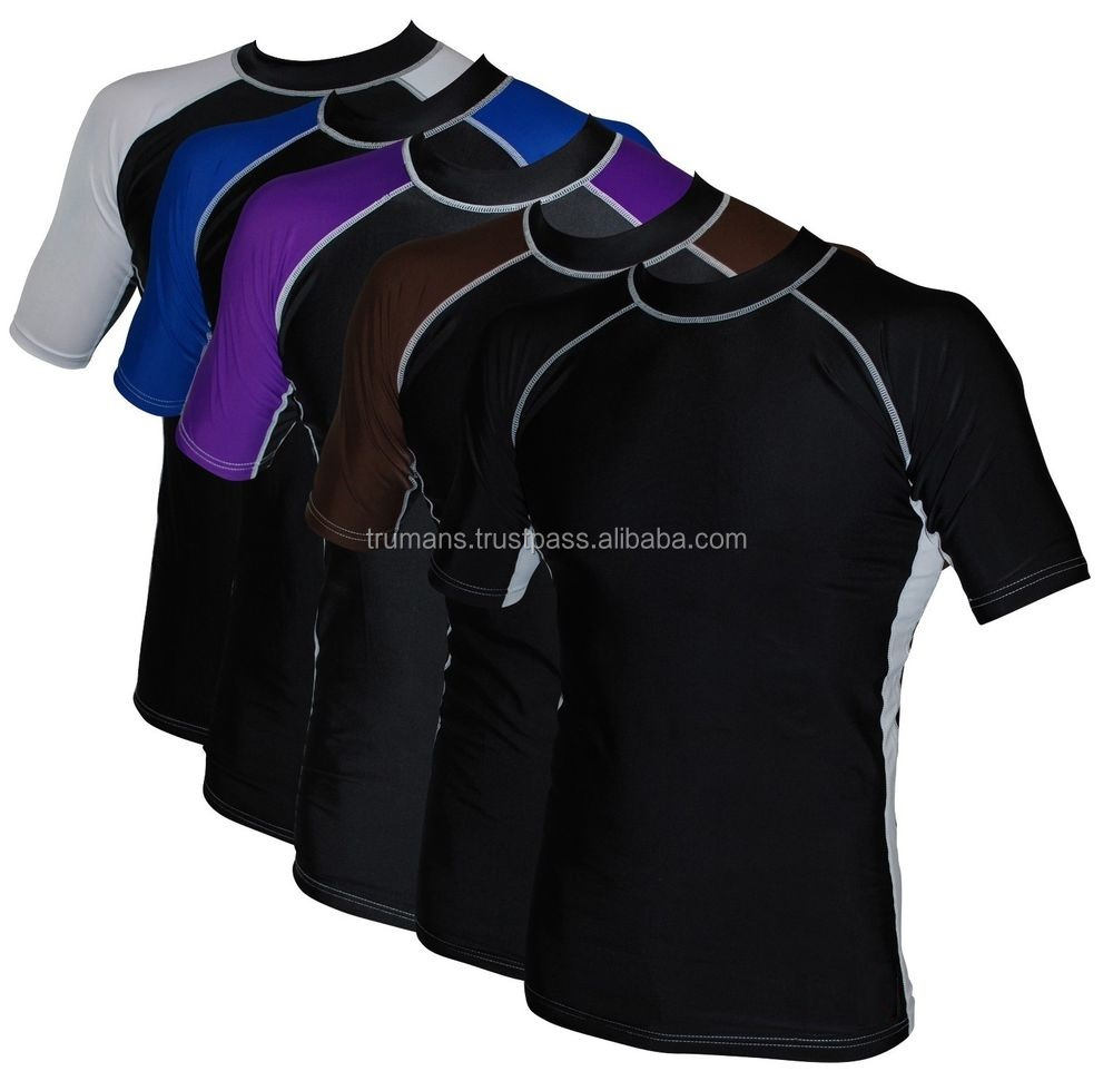 Short Sleeve Brazilian Jiu Jitsu IBJJF Ranked BJJ Compression Base Layer Rash Guard