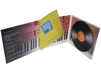 Glossy lamination DVD case 6 panel insert plastic packaging service
