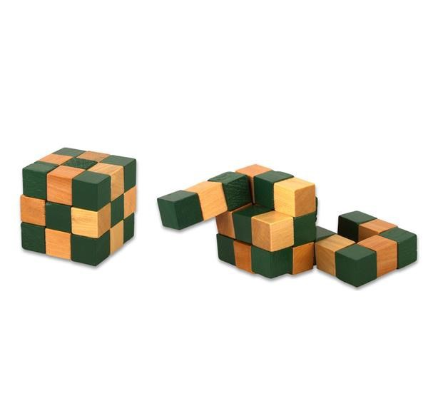 "2"" WOODEN MAGIC CUBE PUZZLE"