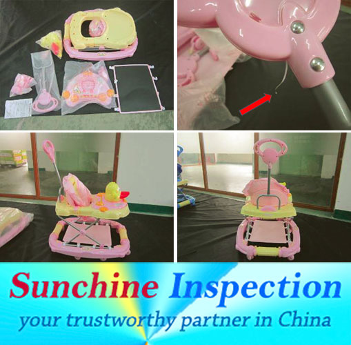 Baby Furniture QC / Walkers Pre-Shipment Inspection Service in Guangzhou , Zhongshan, Kunshan, Taicang