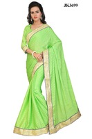 Indian Women's Wear Pretty Embroidered Beautiful Saree And Blouse