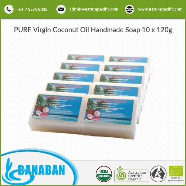 Organic Virgin Coconut Oil Soap for Healthy Skin and Smooth Texture
