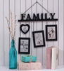 Home Collective Maderia Black MDF Family 4-photo Frame
