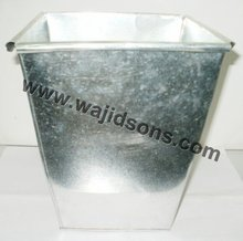 Square Galvanized Zinc Planter Cheap Garden Pots and Planters