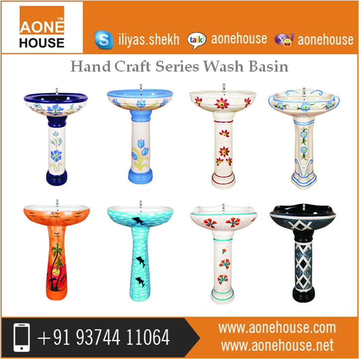 New Model Attractive Color Wash Hand Basin for Sale