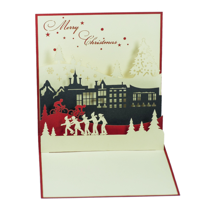 Holiday pop-up card/New Design 2016 for Christmas/ 3D pop-up card for Christmas 2016/ 3D handmade card from Vietnam/MC002-