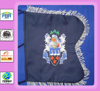 Coat of Arms Family Crest Bagpipe Banner Hand Embroidered by Geoffrey