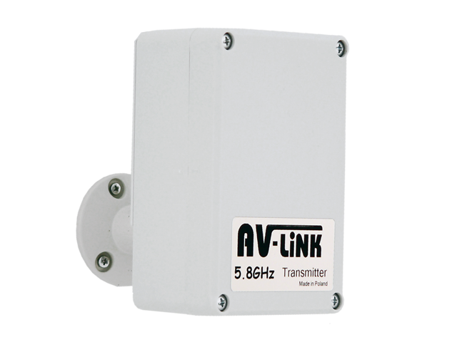 Wireless sender to AHD cameras 5.8Ghz - transmitter + receiver - range up to 500 meters on open area