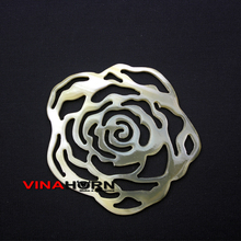handmade horn fashion jewelry rose pendant