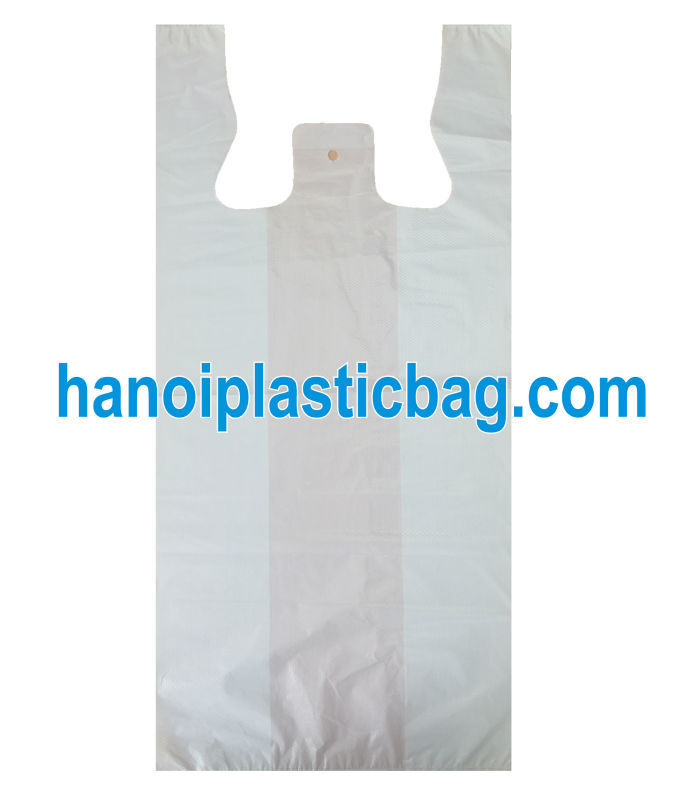 LDPE resealable plastic t-shirt bag/Singlet shopping bag/ T-shirt handle plastic bag