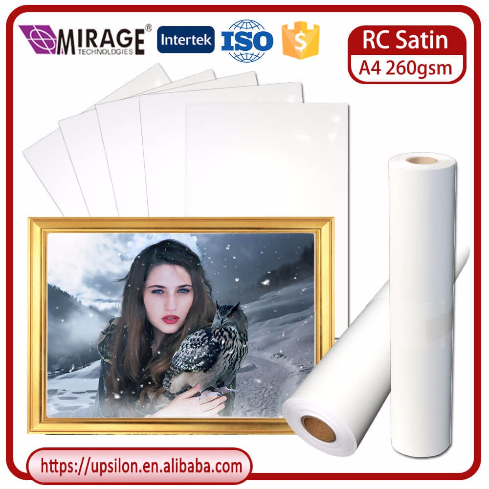 Professional Quality A4 RC Satin Photo Paper Pictures For Inkjet