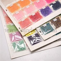 24Bag/Board Mixed Color 12/0 Glass Seed Beads, Mixed Color, 2mm, Hole: 0.8~1mm SEED-P001-05