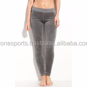 tight velour yoga leggings