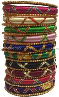 Multicolor Silk Thread Bangles , Wrapped Bangles, Girls Jewellery India