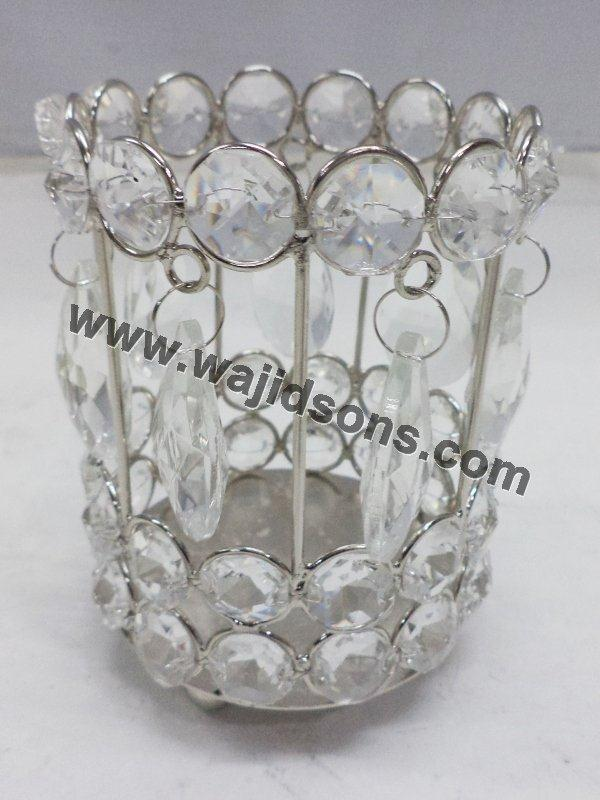 Decorative Floor crystal votive For Weddings and living room decoration