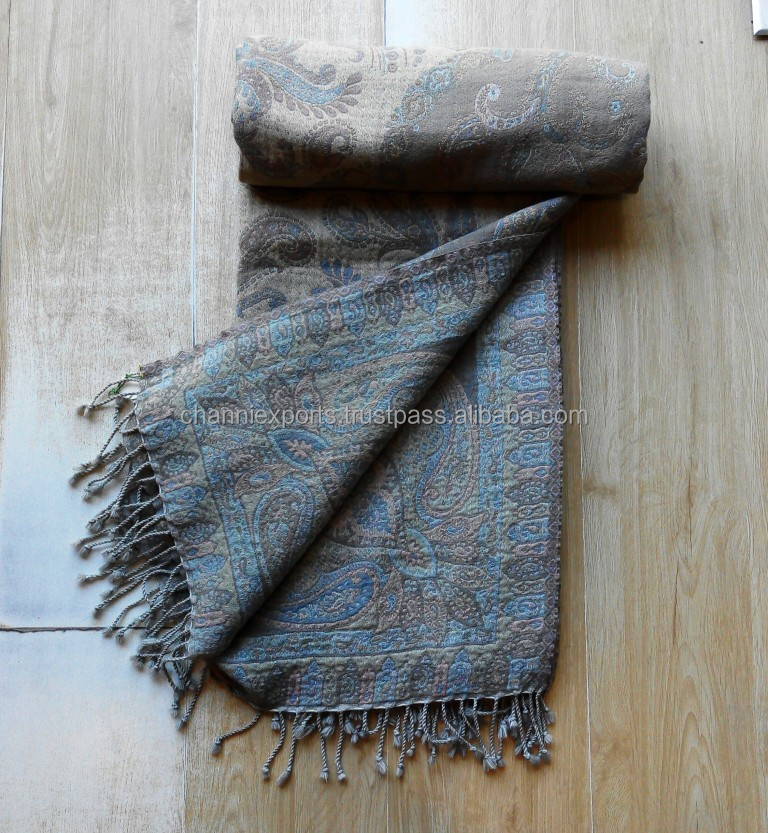 Indian designer handmade multi purpose soft boiled wool throws blankets