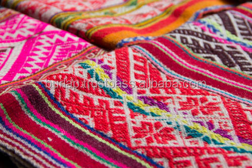 multi color tibetan jacquard fabric for shoes
