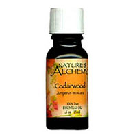 Pure Essential Oil Cedarwood, 0.5 Oz by Natures Alchemy