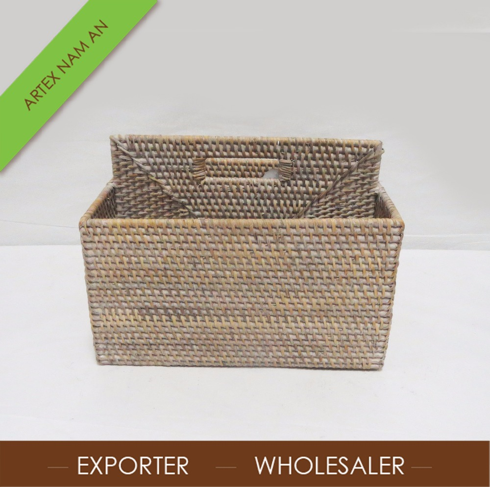 Vietnam Handmade decorative natural rattan box craft with lid