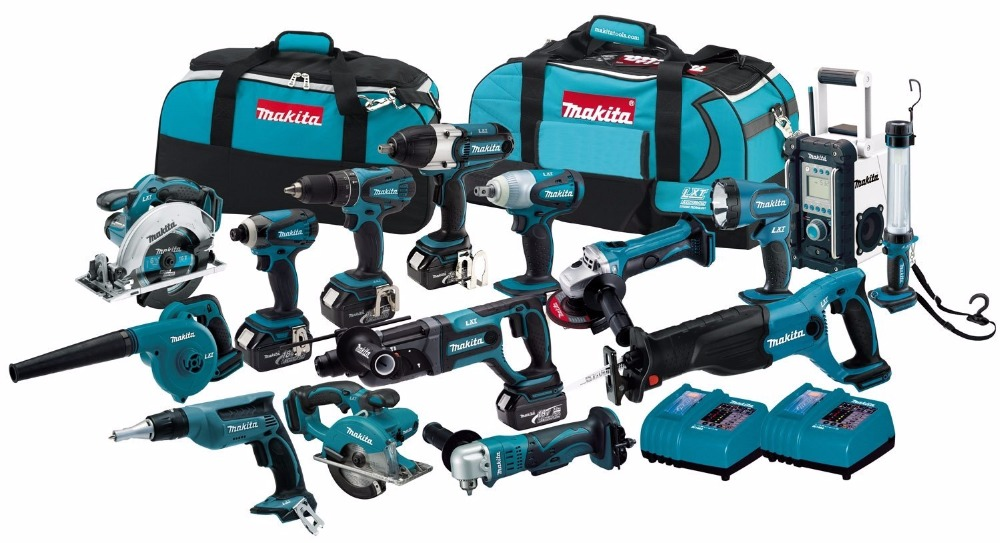 Original Makita power tools LXT1500 18-Volt LXT Lithium-Ion Cordless 15-Piece makita Combo Kit