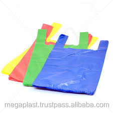 HDPE/LDPE Plastic printed t-shirt Carry Bags on roll Manufacturer