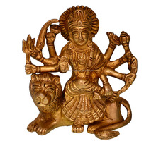 Metal Statues: Brass Durga Idol (10681)