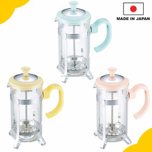 "High quality and easy to make tea maker, ""Tea server for 5 cups"" with heat-resistant glass made in Japan"