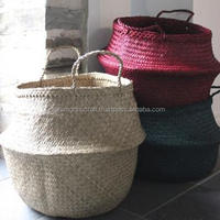 Best selling eco-friendly natural seagrass belly basket from Vietnam