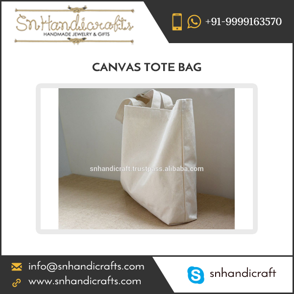 Wholesale Cotton Eco Friendly Natural Women's Blank Canvas Tote Bag