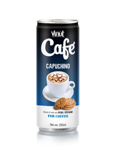 250ml Cappuccino canned coffee Drink in Can with High quality