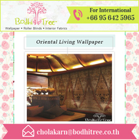 Get Authentic and Traditional Art wallpaper for Oriental Restaurants and Spa decoration