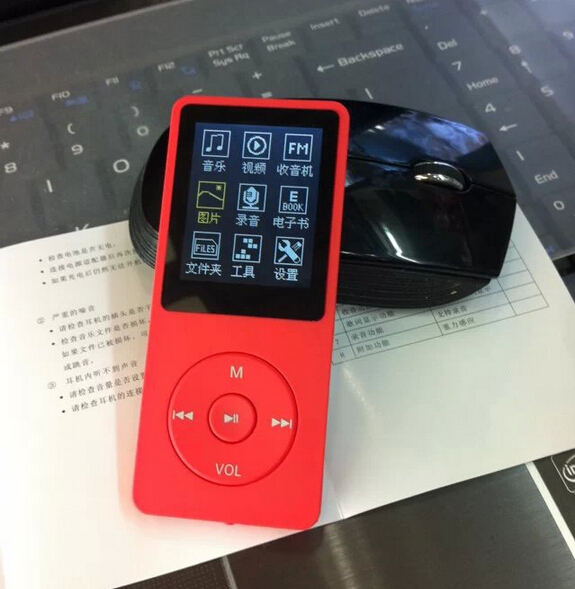 hot sale good quality red 8gb 8g mini mp4 multimedia music players hindi song video