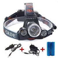 6000LM 3x CREE XM-L T6 LED Headlamp Headlight Head Torch Flashlight 18650 Lamp