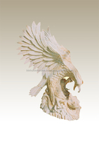 Stone eagle statue marble hand carved sculpture from Vietnam