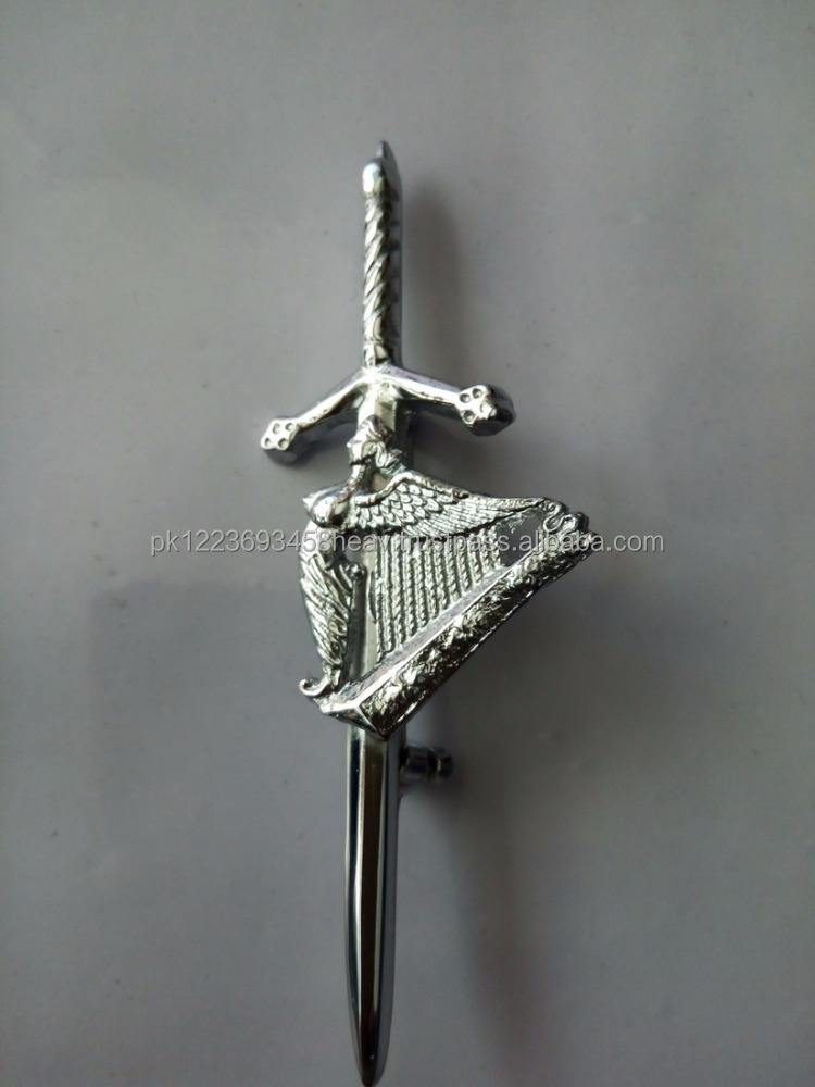 New Scottish Highland Celtic Irish Harp Kilt Pin/irish harp kilt pin Totally Handmade Work
