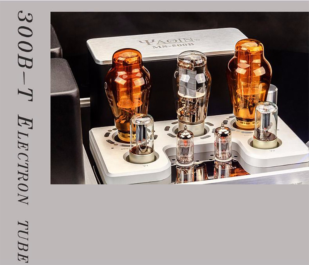 YAQIN MS-500B Class A Single-ended 300B Class A Vacuum Tube HiFi Integrated Amplifier