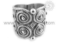 Elegant Design 925 Sterling Indian Silver Jewellery Wholesaler Collection For Woman Ring Supplier RNPS15-1031-1